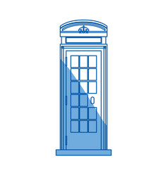 telephone box isolated vector image
