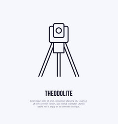Theodolite on tripod geological survey vector