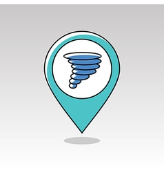 Tornado Whirlwind pin map icon Weather vector