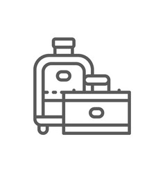travel bags suitcase line icon vector image