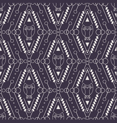 tribal seamless pattern with owl vector image