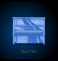 upright piano vector image vector image