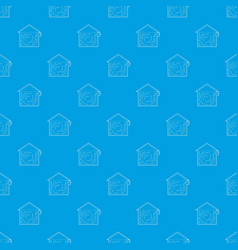 ventilated home pattern seamless blue vector image