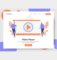 video player concept vector image