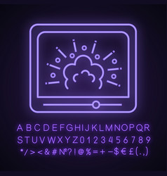 Visual effects neon light icon vector