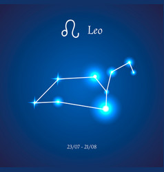 Zodiac constellation leo lion vector