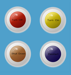 button 4 multi color vector image vector image
