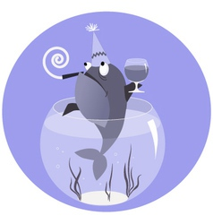 Drunk like a fish vector