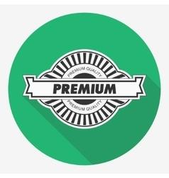 Premium quality label Flat vector image vector image