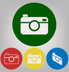 digital photo camera sign 4 white styles vector image vector image