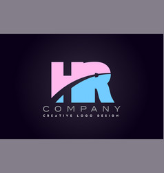 hr alphabet letter join joined letter logo design vector image vector image