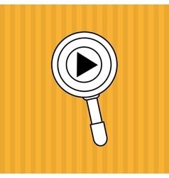 search design lupe icon multimedia concept vector image