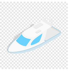 speed boat isometric icon vector image vector image