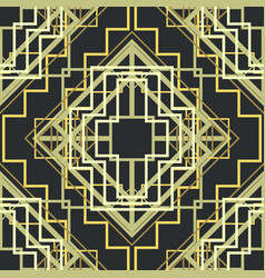 art deco seamless pattern background vector image vector image