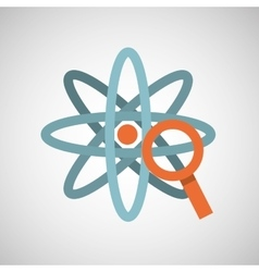 atom magnifying glass search vector image