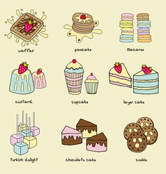 bakery doodle vector image