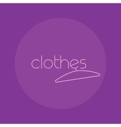 Clothes logo isolated creative fashion vector image