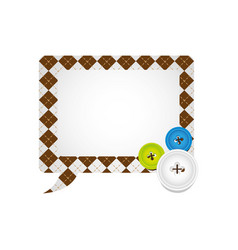 figures square chat bubbles icon vector image