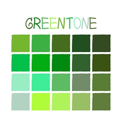 Greentone color tone without name vector