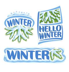 Logo winter vector