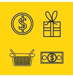 Set e-commerce shop online design vector