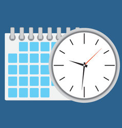 Time planning and management vector image vector image