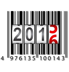 2016 New Year counter barcode vector image