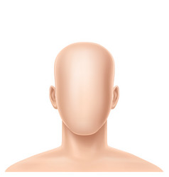 3d realistic faceless human model vector
