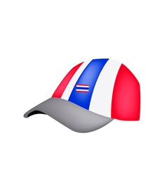 A Baseball Cap of Thai Flag on White Background vector