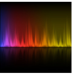 Abstract equalizer background purple-red-yellow vector