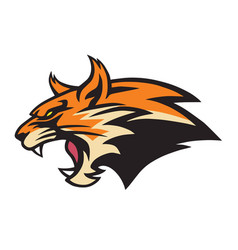 angry lynx wildcat logo mascot vector image