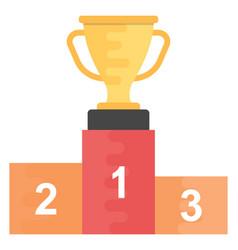 Award rostrum vector