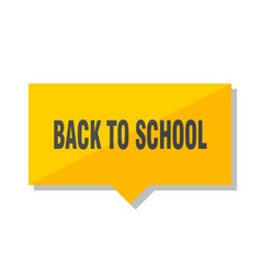 Back to school price tag vector
