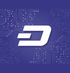 Background dash blockchain style collection vector
