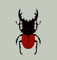 Beetle flat stylefront side vector