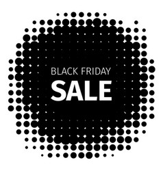 black friday holiday retro icon in halftone style vector image