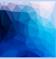 Blue abstract geometric rumpled triangular low vector