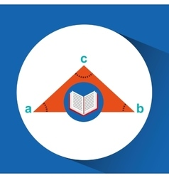 Book school open and triangle geometri vector