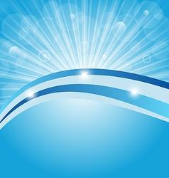 Business card show light rays vector