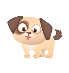 Cartoon Cute Funny Puppy vector image