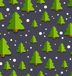 ChristmasTreePatternBackgroundBlack02 vector image