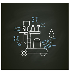 Cleaning trolley chalk icon vector