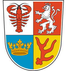 Coat of arms of spree-neisse in brandenburg vector