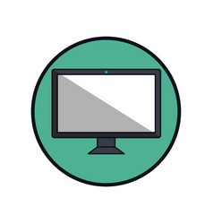 computer display isolated icon vector image
