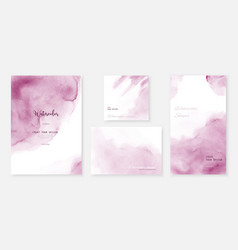 creative abstract template background set vector image