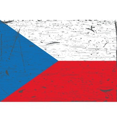 Czech flag grunge vector