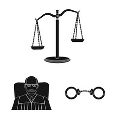 Design of law and lawyer sign set of law vector