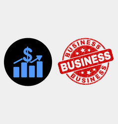 dollar trends icon and grunge business seal vector image