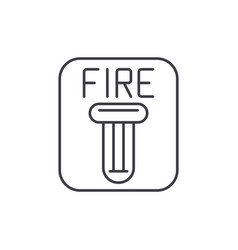 fire safety line icon concept fire safety vector image