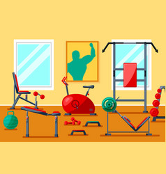fitness gym equipment vector image